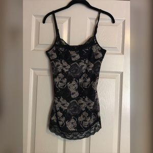 Maurices lace and floral tank top